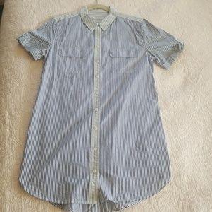 Equipment 100% Cotton shirt dress sz L